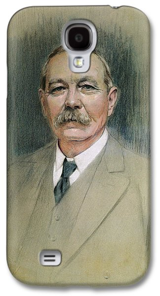 Half-length Galaxy S4 Cases - Portrait Of Sir Arthur Conan Doyle Pastel On Paper Galaxy S4 Case by William Henry Gates