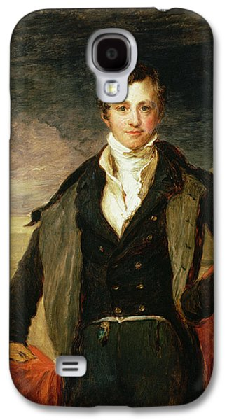 Young Man Photographs Galaxy S4 Cases - Portrait Of Sir Humphry Davy 1778-1829 Oil Galaxy S4 Case by John Linnell