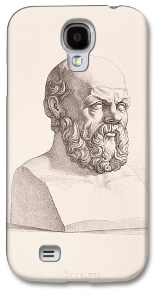Busts Galaxy S4 Cases - Portrait of Socrates Galaxy S4 Case by CC Perkins