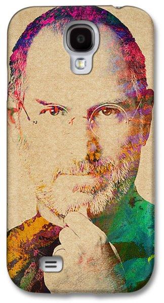 Portrait Of Steve Jobs Galaxy S4 Case by Aged Pixel