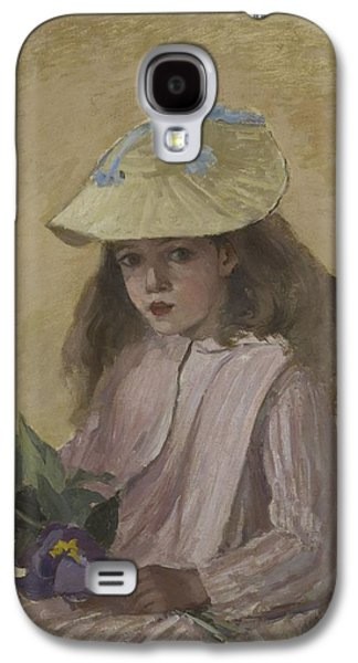 Half-length Galaxy S4 Cases - Portrait Of The Artist?s Daughter, 1872 Galaxy S4 Case by Camille Pissarro