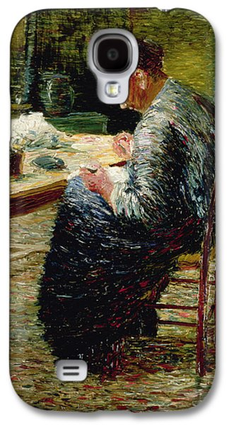 Neo Galaxy S4 Cases - Portrait Of The Artists Mother Sewing, 1885 Galaxy S4 Case by Charles Angrand