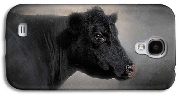 Black Angus Galaxy S4 Cases - Portrait of the Black Angus Galaxy S4 Case by Jai Johnson
