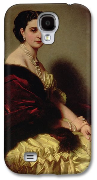 Aristocrat Galaxy S4 Cases - Portrait of the Countess Sophie Naryshkina Galaxy S4 Case by Franz Xaver Winterhalter