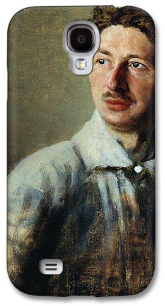 Mustache Galaxy S4 Cases - Portrait of the poet Sergey Gorodetsky Galaxy S4 Case by Ivan Kirillovich Parkhomenko