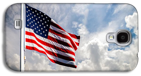 Political Galaxy S4 Cases - Portrait of The United States of America Flag Galaxy S4 Case by Bob Orsillo