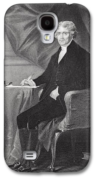 Reformer Galaxy S4 Cases - Portrait of Thomas Jefferson Galaxy S4 Case by Alonzo Chappel