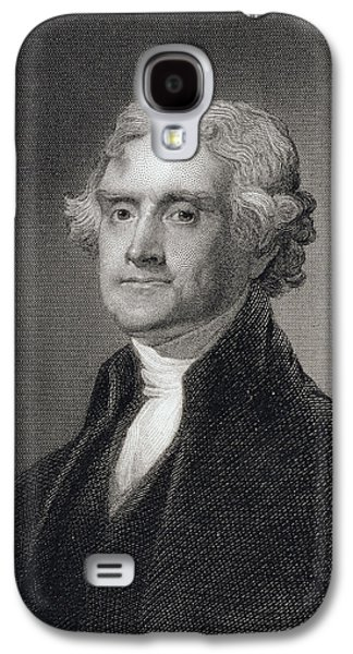 Historical Figures Galaxy S4 Cases - Portrait of Thomas Jefferson Galaxy S4 Case by Henry Bryan Hall