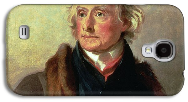 Historical Figures Galaxy S4 Cases - Portrait of Thomas Jefferson Galaxy S4 Case by Thomas Sully