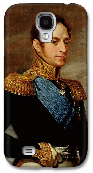 Sideburns Galaxy S4 Cases - Portrait Of Tsar Nicholas I 1796-1855 1826 Oil On Canvas Galaxy S4 Case by Vasili Andreevich Tropinin
