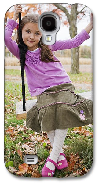 Full Skirt Galaxy S4 Cases - Portrait Of Young Girl On Swing Galaxy S4 Case by Vast Photography