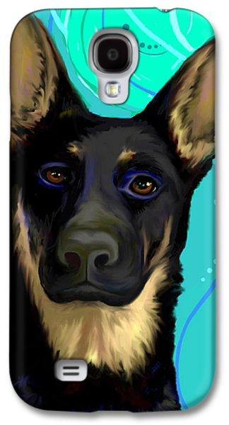 Dog Greeting Cards Digital Galaxy S4 Cases - Portrait of Ysabel von Sonnenberg Galaxy S4 Case by Karon Melillo DeVega