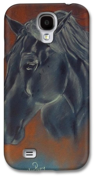 Nature Study Pastels Galaxy S4 Cases - Portrait Study of a Horse Galaxy S4 Case by Callan Percy