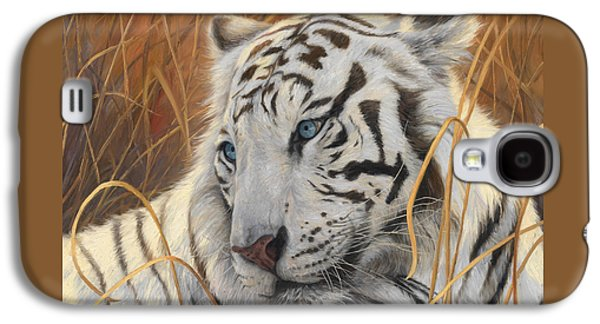 Portrait White Tiger 1 Galaxy S4 Case by Lucie Bilodeau