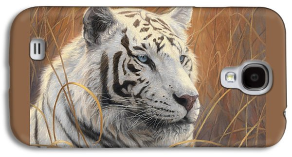 Portrait White Tiger 2 Galaxy S4 Case by Lucie Bilodeau