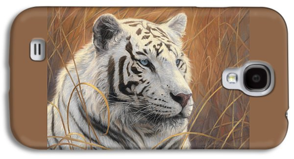Tiger Galaxy S4 Cases - Portrait White Tiger 2 Galaxy S4 Case by Lucie Bilodeau