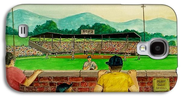 Baseball Stadiums Paintings Galaxy S4 Cases - Portsmouth Athletics vs Muncie Reds 1948 Galaxy S4 Case by Frank Hunter