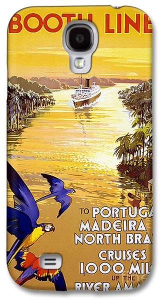 Portugal Galaxy S4 Cases - Portugal Vintage Travel Poster Galaxy S4 Case by Jon Neidert