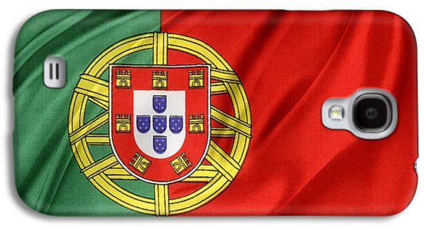 Portugal Galaxy S4 Cases - Portuguese flag Galaxy S4 Case by Les Cunliffe