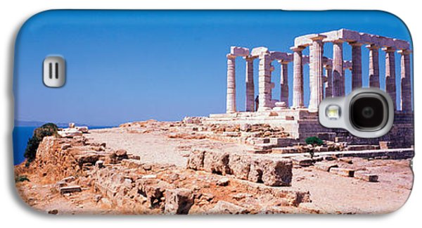 Ancient Galaxy S4 Cases - Poseidon Cape Sounion Greece Galaxy S4 Case by Panoramic Images
