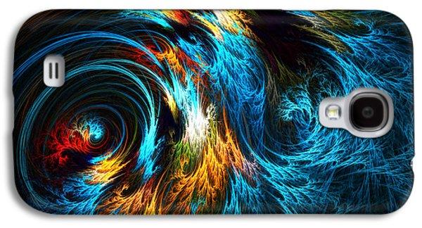 Waves Digital Art Galaxy S4 Cases - Poseidons Wrath Galaxy S4 Case by Lourry Legarde
