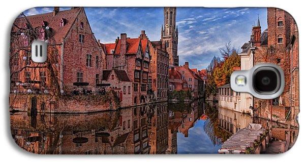 Landmarks Photographs Galaxy S4 Cases - Postcard Canal Galaxy S4 Case by Joan Carroll