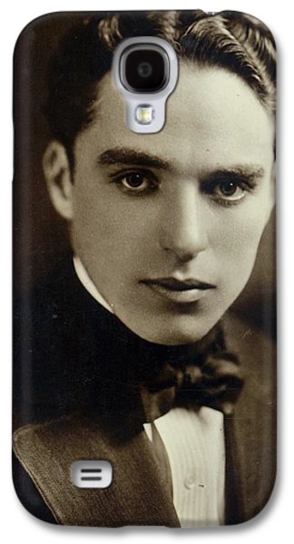 Celebrities Photographs Galaxy S4 Cases - Postcard of Charlie Chaplin Galaxy S4 Case by American Photographer