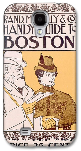 19th Century America Galaxy S4 Cases - Poster Advertising Rand McNally and Cos Hand Guide to Boston Galaxy S4 Case by American School