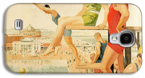 Poster Advertising Sunny Rhyl  Galaxy S4 Case by Septimus Edwin Scott