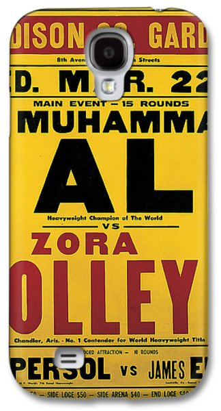 African-american Galaxy S4 Cases - Poster Advertising the Fight Between Muhammad Ali and Zora Folley In Madison Square Garden Galaxy S4 Case by American School