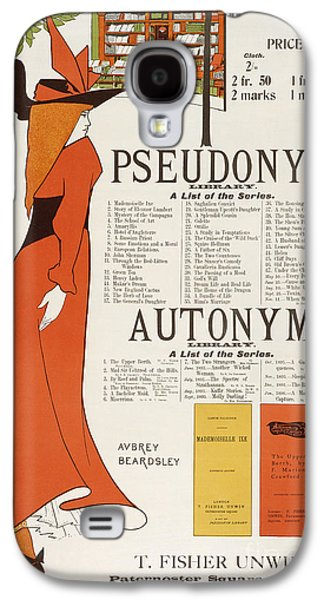 Illustrator Galaxy S4 Cases - Poster for The Pseudonym and Autonym Libraries Galaxy S4 Case by Aubrey Beardsley