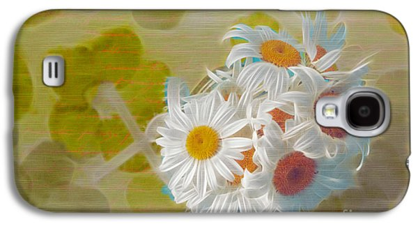 Floral Digital Art Galaxy S4 Cases - Pot of Daisies 02 - s13ya Galaxy S4 Case by Variance Collections