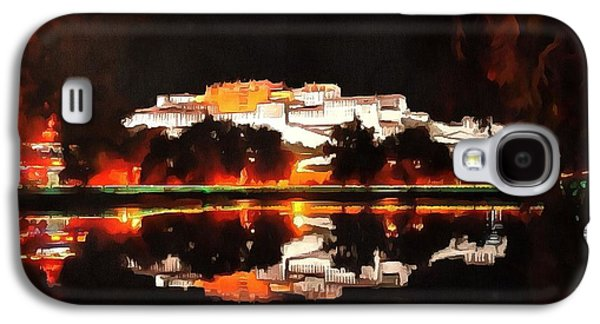 Photo Manipulation Paintings Galaxy S4 Cases - Potala Palace Night View Galaxy S4 Case by Mario Carini