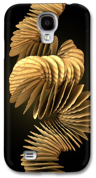 Wavy Galaxy S4 Cases - Potato Chip Stack Falling Galaxy S4 Case by Allan Swart