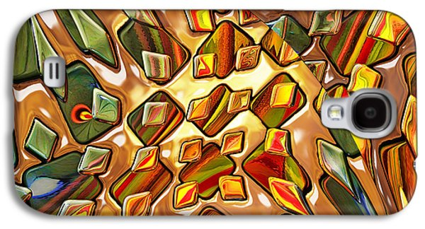 Abstract Digital Galaxy S4 Cases - Potpourri - for metallic paper Galaxy S4 Case by Wendy J St Christopher