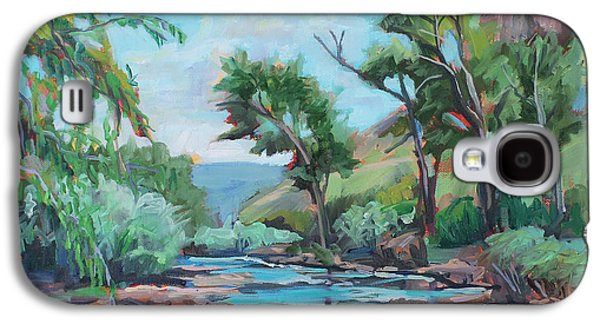 Poudre Galaxy S4 Cases - Poudre River Run  plein air Galaxy S4 Case by Marie Massey