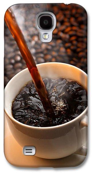 Espresso Galaxy S4 Cases - Pouring Coffee Galaxy S4 Case by Johan Swanepoel