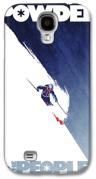 Skiing Posters Paintings Galaxy S4 Cases - Powder to the People Galaxy S4 Case by Sassan Filsoof
