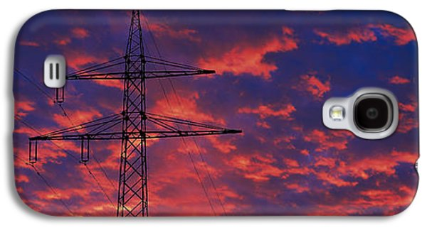 Technological Photographs Galaxy S4 Cases - Power Lines At Sunset Germany Galaxy S4 Case by Panoramic Images