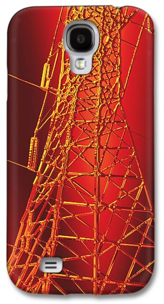 Photo Manipulation Galaxy S4 Cases - Power Station - Hot for metallic paper Galaxy S4 Case by Wendy J St Christopher