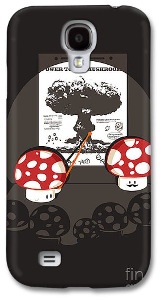 Clouds Digital Art Galaxy S4 Cases - Power to the mushroom Galaxy S4 Case by Budi Satria Kwan