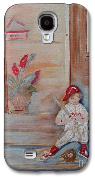Baseball Glove Paintings Galaxy S4 Cases - Practice makes Perfect Galaxy S4 Case by Bobbi Groves