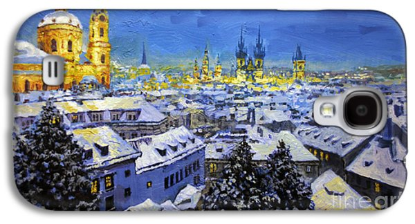 Prague After Snow Fall Galaxy S4 Case by Yuriy Shevchuk