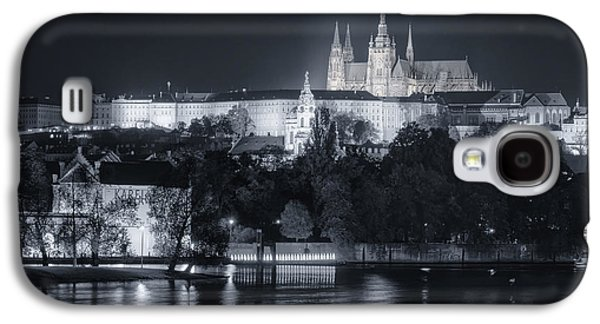 Religious Galaxy S4 Cases - Prague Castle at Night Galaxy S4 Case by Joan Carroll