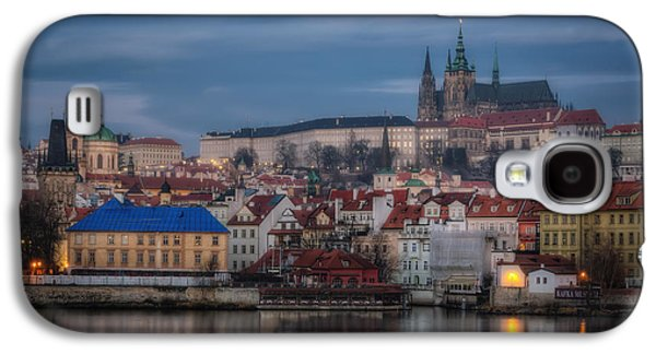 Fantasy Photographs Galaxy S4 Cases - Prague Castle Dawn Galaxy S4 Case by Joan Carroll