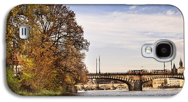 Transportation Pyrography Galaxy S4 Cases - Prague from Vltava Galaxy S4 Case by Jelena Jovanovic