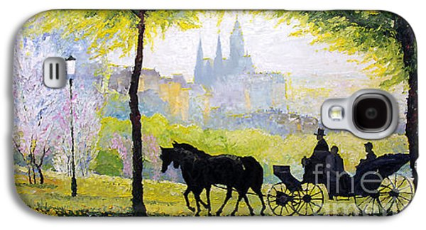 Midday Paintings Galaxy S4 Cases - Prague Midday Walk in the Petrin Gardens Galaxy S4 Case by Yuriy Shevchuk