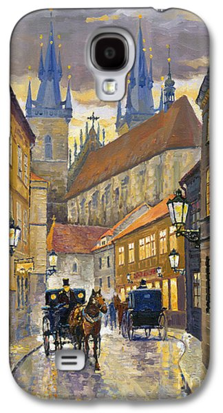 Street Paintings Galaxy S4 Cases - Prague Old Street Stupartska Galaxy S4 Case by Yuriy Shevchuk