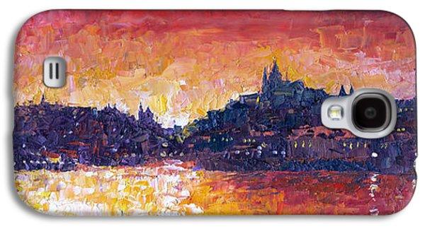 Light Galaxy S4 Cases - Prague Red Panorama Galaxy S4 Case by Yuriy Shevchuk