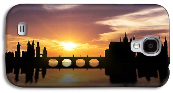 Prague Sunset Skyline  Galaxy S4 Case by Aged Pixel